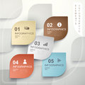 Abstract leaf shape tag infographics modern vector infographic elements Royalty Free Stock Photo