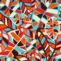 Abstract Leaves Pattern Backgr...