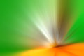 Abstract light acceleration speed motion background green and orange Stock Photos