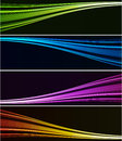 Abstract light background wiht color spotlight Stock Photography