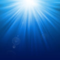 Abstract light backgrounds blue bokeh Royalty Free Stock Images