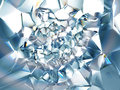 Abstract light blue clear crystal background Stock Image