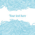 Abstract light blue hand-drawn pattern Stock Photography