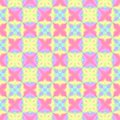 Abstract light colorful tile pattern.  Multicolor tiled texture background.  Rainbow colored ornate checked seamless illustration. Royalty Free Stock Photo