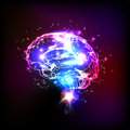 Abstract light human brain illustration Royalty Free Stock Photography