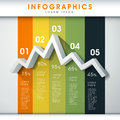 Abstract line chart infographics modern vector infographic elements Stock Image