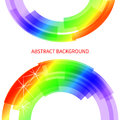 Abstract line rainbow design element vector illustration eps artistic background with space for text Stock Photos