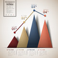 Abstract line and triangle chart infographics infographic elements Royalty Free Stock Photos