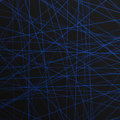 Abstract lines laser for background blue stripe on a black Royalty Free Stock Photos