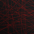 Abstract lines laser for background red stripe on a black Royalty Free Stock Images