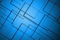 Abstract lines square blue background on Royalty Free Stock Image