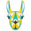 Abstract Llama. Blue, Yellow A...
