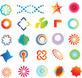 Abstract logo shapes Stock Image