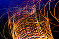 Abstract long exposure light streaks colorful Stock Image