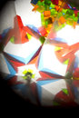 Abstract Looking Into a Kaleidoscope Background Geometric Shapes