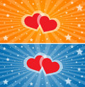 Abstract love heart backgrounds Stock Photos