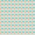 Abstract love seamless pattern cartoon with pink blue hearts Royalty Free Stock Photos