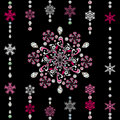 Abstract luxury snowflake Royalty Free Stock Photo