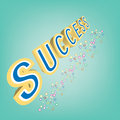 Abstract magic success text on blue background