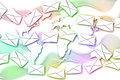 Abstract mail communication on world map background the Stock Photos