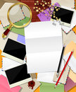Abstract mail decorative frame made different envelopes room text Royalty Free Stock Photo