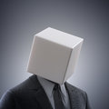 Abstract man with a box head male figure Stock Image