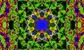 Abstract mandala Art with kaleidoscopic shapes