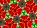 Abstract mandala background flowers