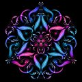 Abstract mandala sacred geometry illustration. Beautiful abstract fractal. Mysterious relaxation pattern. Yoga template