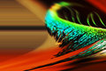 Abstract manipulated image feather colors & blur Royalty Free Stock Photo