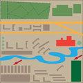 Abstract map of the city to design print Royalty Free Stock Photography
