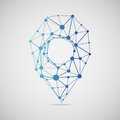 Abstract map marker consisting of points Royalty Free Stock Photo