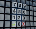 Abstract massive numbers pad Stock Photo