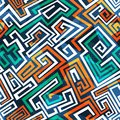 Abstract maze seamless pattern eps Royalty Free Stock Image