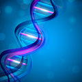 Abstract medical background with colorful DNA. Royalty Free Stock Photography
