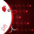 Abstract medical cardiology ekg background Royalty Free Stock Images