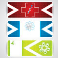 Abstract medical colorful banners red blue green headers Stock Image