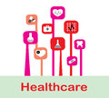 Abstract medicine background with icons Royalty Free Stock Photos