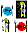Abstract menu illustration on background Stock Image