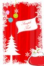 Abstract merry christmas card Stock Photos