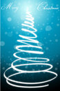 Abstract merry christmas card with xmas tree Stock Images