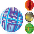 Abstract mesh sphere Stock Photo