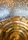 Abstract metal detail two pieces of fused together create this background texture image Stock Photography