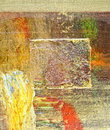 Abstract on metal nice image of a large scale original oil painting Royalty Free Stock Photo