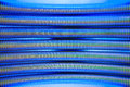 Abstract metal pipes blue background Royalty Free Stock Photo