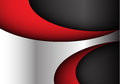 Abstract metal red dark gray curve modern vector