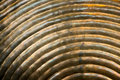 Abstract metal texture with curved lines and metallic smooth background in color Stock Images
