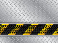 Abstract metallic background with tire track
