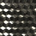 Abstract metallic cubes technology background for creative tasks Royalty Free Stock Photography
