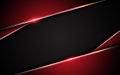 Image : Abstract metallic red black frame layout design tech innovation concept background website wave waves